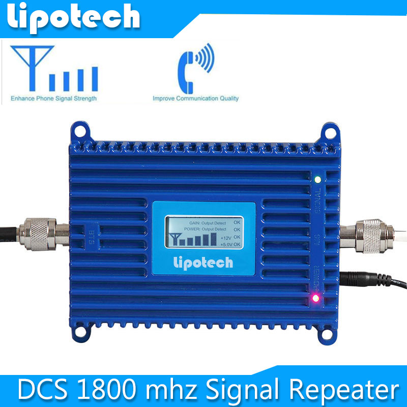 Free shipping! Mini Smart DCS 1800MHz Repeater Mobile Phone Signal Booster 70db DCS Signal Repeater Amplifier with LCD Display(China (Mainland))