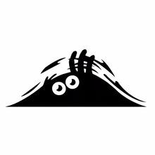 OEM Black Waterproof Peeking Monster Sticker Graphic Vinyl Decor Decal For Car Auto Wall Window Decoration