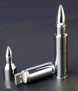 Genuine 4GB/8GB/16GB Metal Bullet Shape USB 2.0 Memory Stick Flash Drive