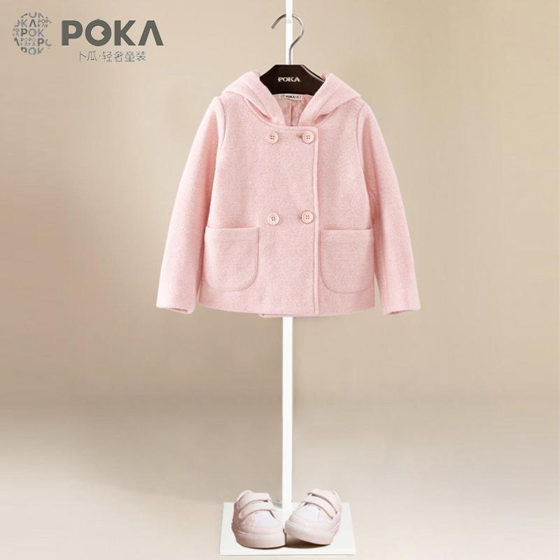 Скидки на Девушка Хлопка Верхняя Одежда Одежда Розовый Красный Кролик Большой Уха С Капюшоном Пальто Ребенка Малыша Девушки Осень Весна Милашка Модная Одежда