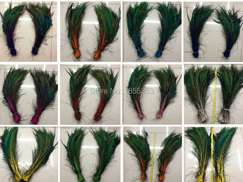 Wholesale peacock feather feather sword! Many colors 10 high-quality natural peacock feathers, 12-16 inches / 30-40cm DIY(China (Mainland))