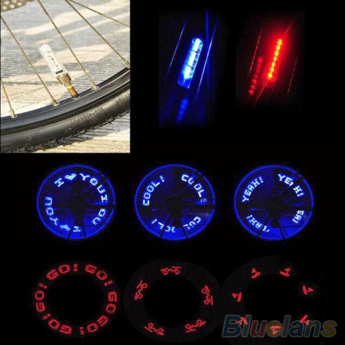 Flash 7LED Lights Neon Bicycle Bike Motorcycle Lamp Tire Spoke Wheel Valve 2HSQ(China (Mainland))