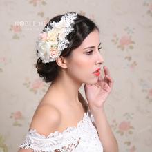 2016 Newest Design Wholesale Bridal Flower Headband With Crystal wedding Hair Accessory wholesalers140C