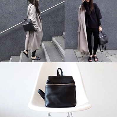 Гаджет  stacy bag new hot good quality women PU Leather backpack female lady girl small simple black bag leisure travel bag None Камера и Сумки
