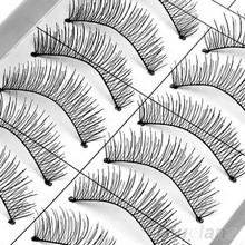 Glamor 10 Pairs Soft Natural Cross Handmade Eye Lashes Makeup Extension False Eyelashes