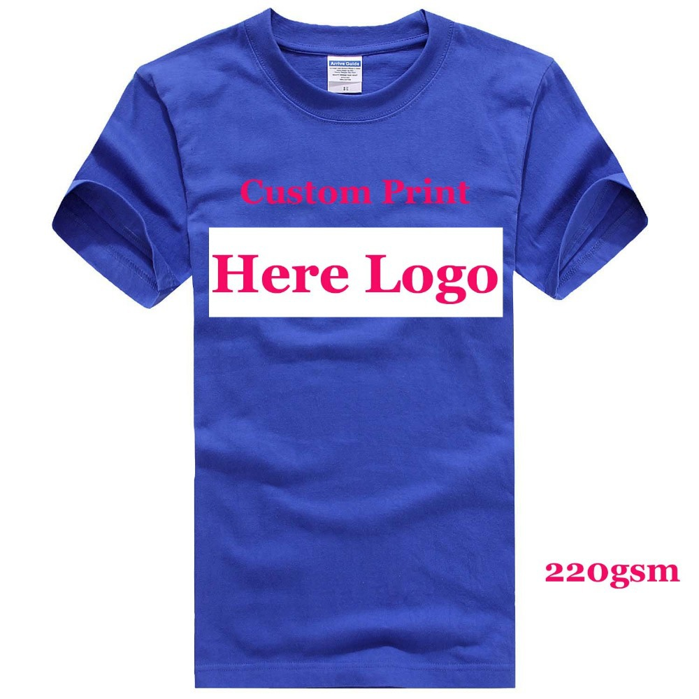 Custom tshirts logo printing Camisas Factory Company men women T-shirt Embroidery Heat Transfer Printed Personal Graphic HY(China (Mainland))