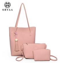 SHYAA Wholesale 2017 New Women Messenger Shoulder Bag Portable Leisure Simple Child Trend Handbags Women Bag(China (Mainland))