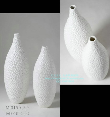 Simple modern white ceramic vase flower ornaments fashion model room accessories living room furnishings, home accessories(China (Mainland))