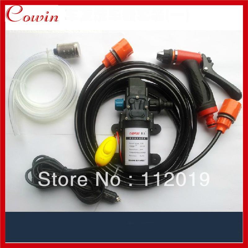 Free ship Cigarette Lighter powered portable 12v 60w car wash device car washer washing gun water pump Auto wash clean machine(China (Mainland))