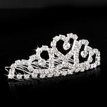 Mini Twinkle Rhinestone Diamante Bridal Princess Crown Hair Comb Hair Clip Tuck Tiara Ball Party Wedding