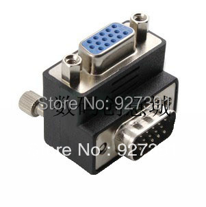 90 degree angle elbow VGA Extender VGA Male to Female head adapter 15 for a 15-hole display connection(China (Mainland))