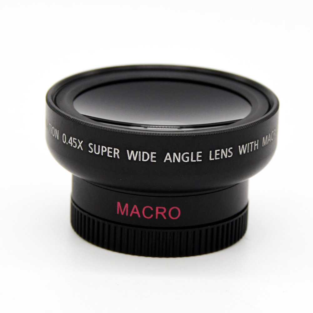 46mm UV 37mm 0.45x Wide Angle Macro Conversion Lens 0.45x 37 mm Wide-Angle Lens Canon Nikon Macro Mobile Lens