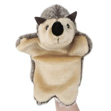 2016 New Arrival Hot Sale Cute Hedgehog Design Fluffy Plush Kids Hand Puppets Toy Baby Favorite Toys soft Comfortable Design(China (Mainland))