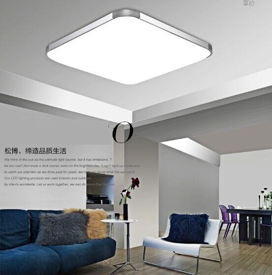 HOT 79%OFF Modern LED Apple Ceiling ligh Square 24W 30CM led Ceiling Lamp kitchen light bedroom modern livingroom free shipping(China (Mainland))