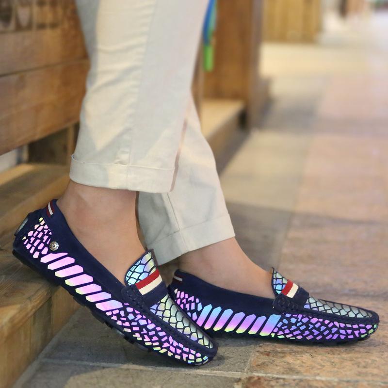 Фотография New Arrival Luminous Men Shoes England Men