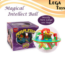 Large 100 Steps 3D Magic Intellect Maze Ball Track Puzzle Toy Perplexus Epic Game Children Adult Magnetic Balls Toys for Kids(China (Mainland))