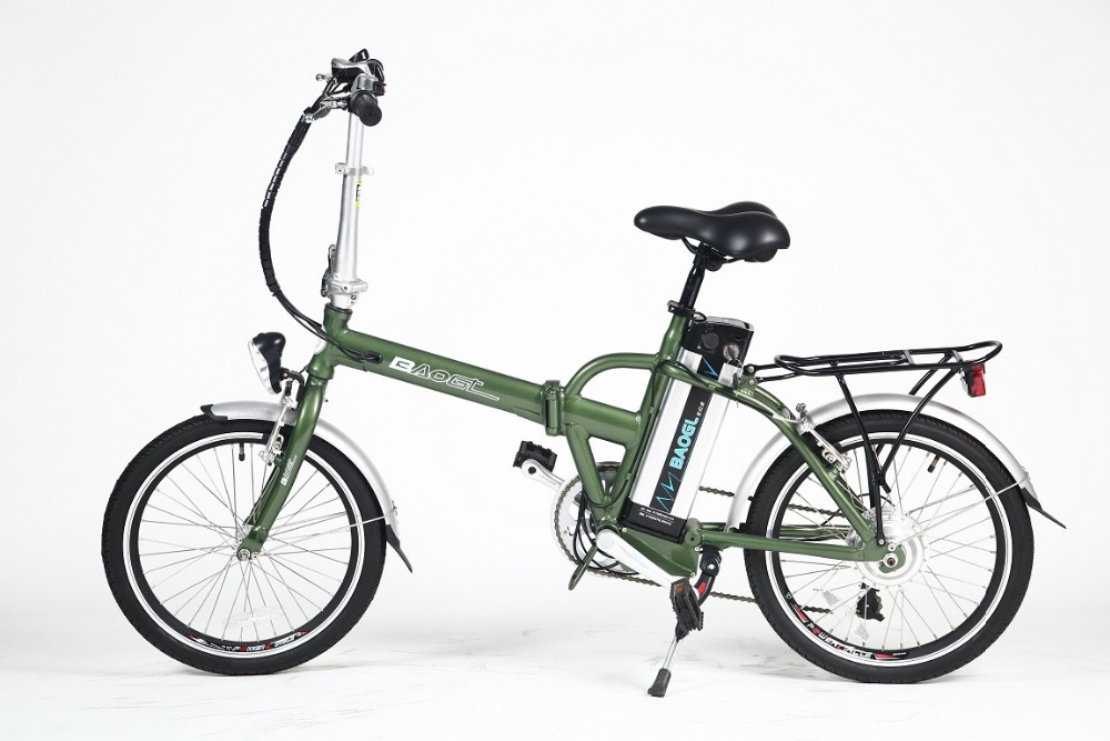 20 inch folding electric bicycle with 250w brushless hub motor