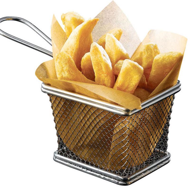 stainless steel fryer serving food presentation basket. Black Bedroom Furniture Sets. Home Design Ideas