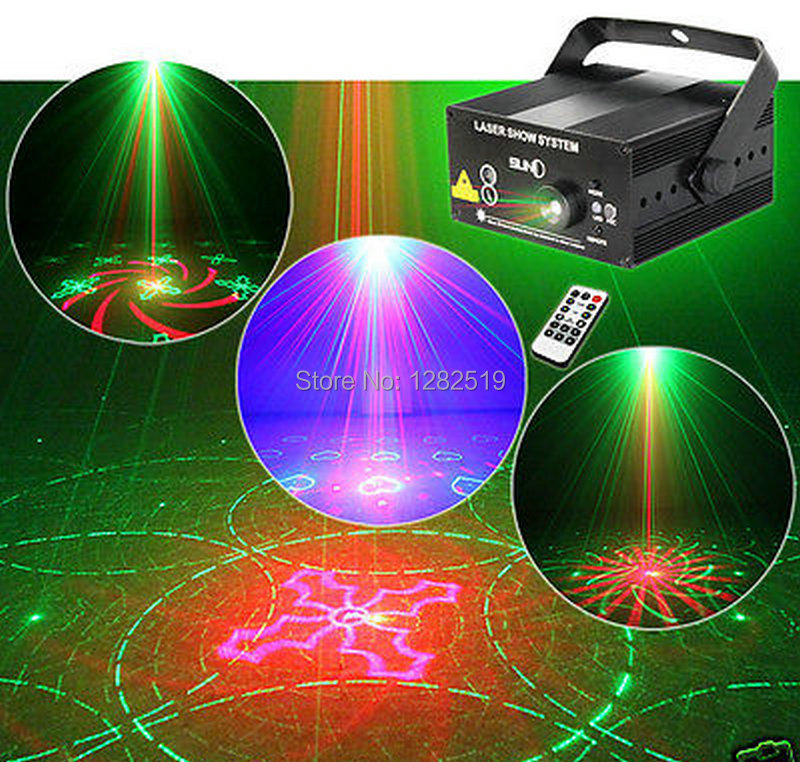 SUNY 3 Lens 40 Patterns RG Laser DJ show BLUE LED Stage Lighting Light Green Red(China (Mainland))