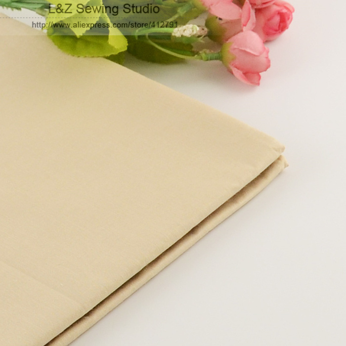 50cmx160cm/piece Light Khaki cotton Fabric for Tilda Doll Twill Cloth Patchwork Quilting bedding home textile Reactive Dyeing(China (Mainland))