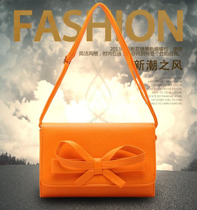 2016 new big brand orange bag women messenger bags in dollar price ...