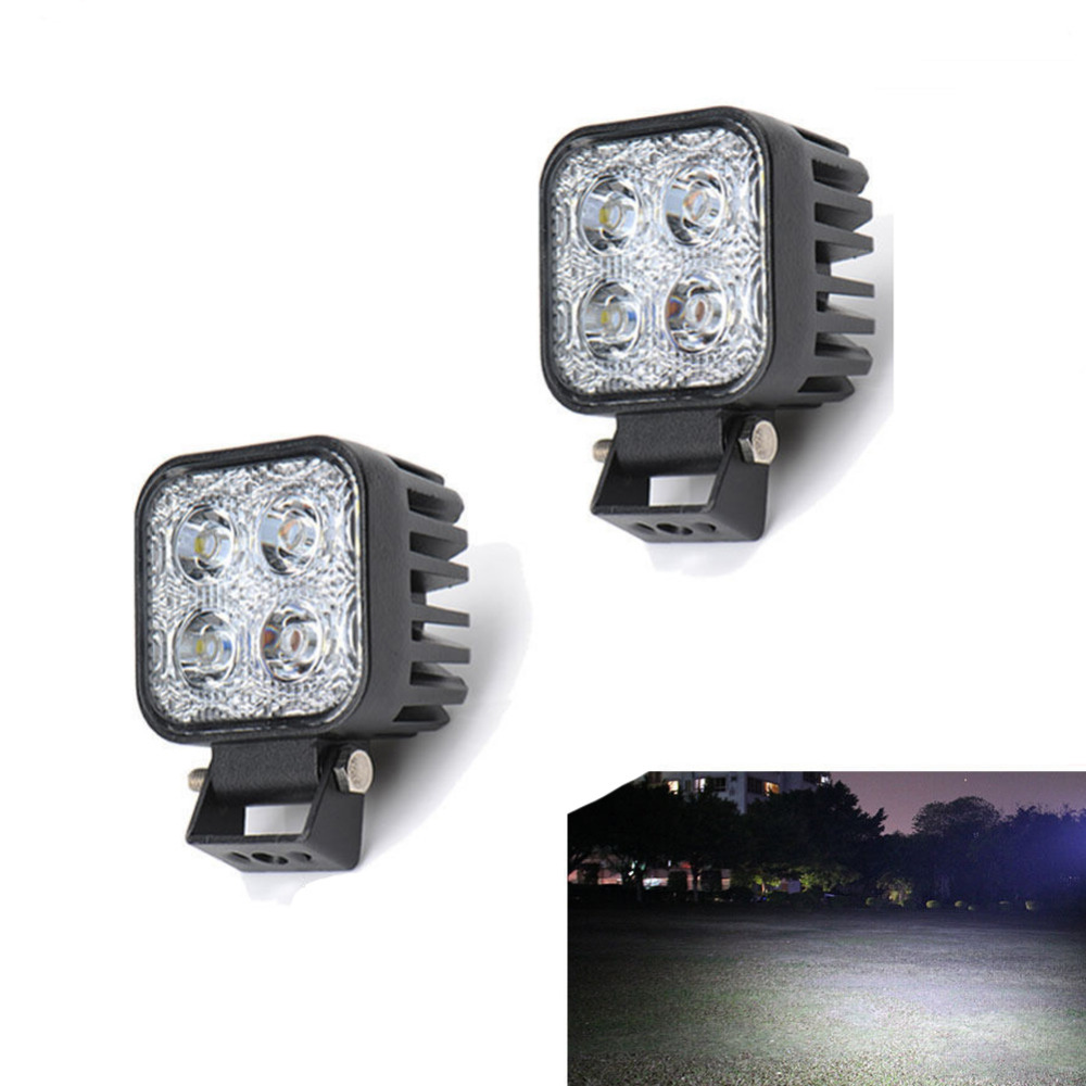 2pcs LED Spotlights 900LM Mini 6 Inch 12W 4 x 3W Car CREE LED Light Bar as Worklight / Flood Light / Spot Light for Boating(China (Mainland))