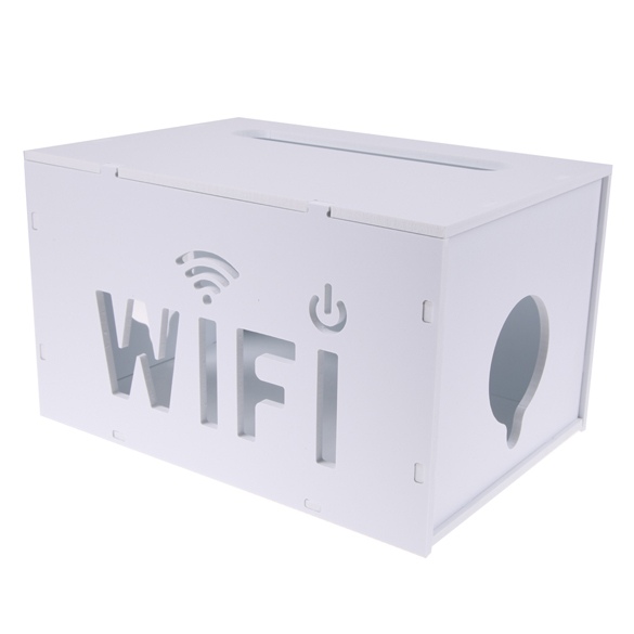 Wise home decro Portable Household Wifi Router Extension Socket Orgnizing Box PVC White Detachable Home Storage Boxes(China (Mainland))