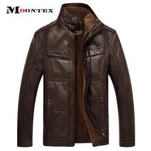 jaqueta de couro masculina men leather jacket  fur coat middle-aged leather  PU jacket coat stand collar size male 4XL(China (Mainland))