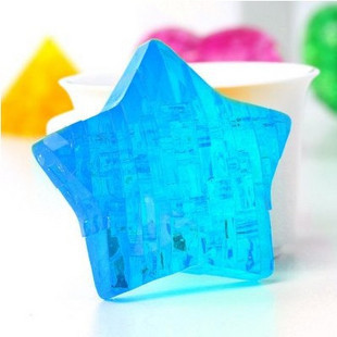 Free Shipping Novelty Creative Puzzle 3D Crystal Star Puzzle Jigsaw Model DIY Educational Toy Souptoys Birthday Gift