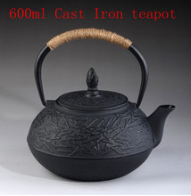 free shiping 900ml Japanese Pine design Cast Iron Free shipping thermal drinkware home Tea set,Chinese Kung fu tea pot(China (Mainland))