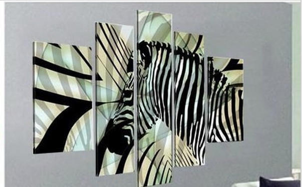 Black And White Zebra Painting ,Top Quality Modern Abstract Oil Painting Canvas Wall Art ,Top Home Decoration(China (Mainland))
