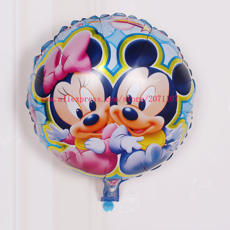 Lucky 30pcs/lot 18 inch Cartoon Minnie Mickey Balloon Mouse Foil Helium Balloons For Clildren's Toys Birthday Party Decorations(China (Mainland))