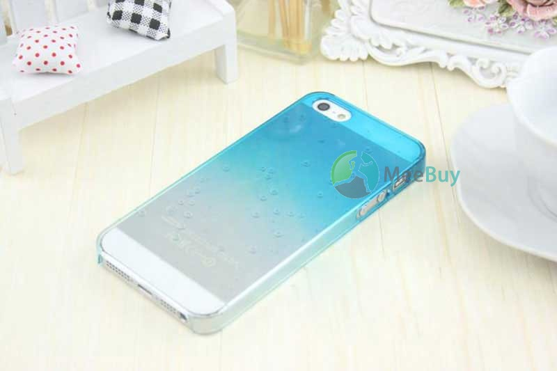 MiniDeal 3D Water Rain Drop Gradual Change Clear Crystal Hard Case Cover for iphone 5 5S(China (Mainland))