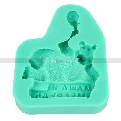 Free Shipping Russia 3D Masha&Bear Silicone Soap Clay Fondant Cake Candy Mold Decor 2015 New Arrival Promotion(China (Mainland))