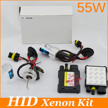 55W hid Xenon Kit 2pcs block H1 H3 H4 H8 H7 H11 9005 9006 880/1 H13 single beam 3000K 4300k 6000k 8000k 12000K for car headlight(China (Mainland))