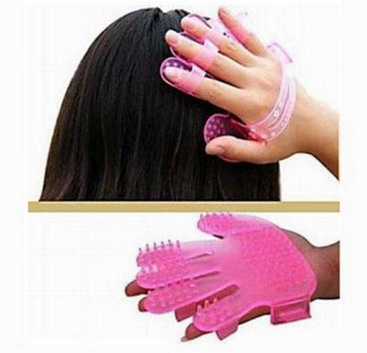 1pc Soft Head Massager comb head skin relaxation massage comb washing hair comb