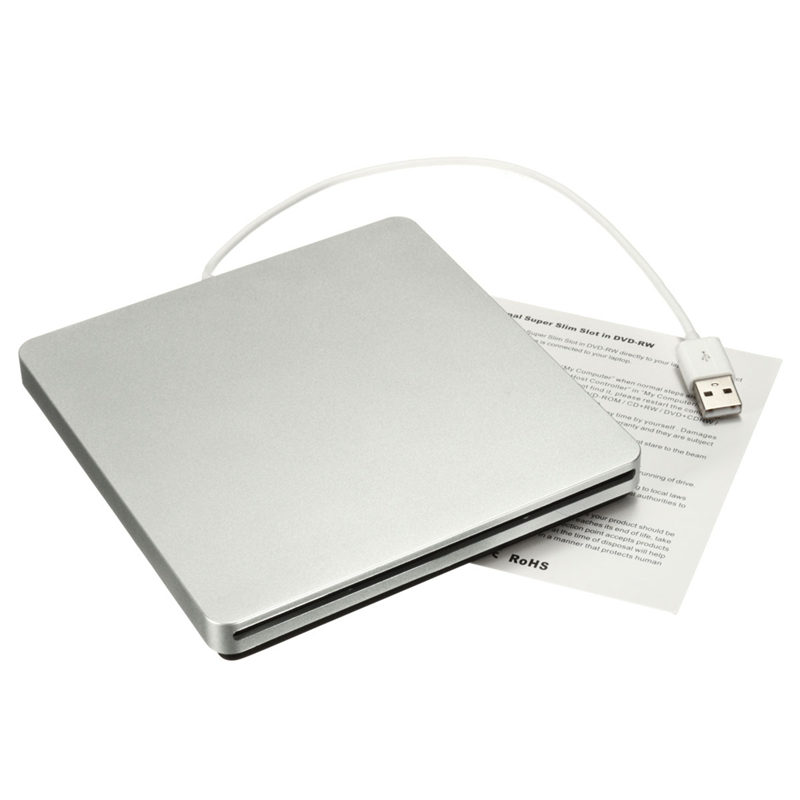 Universal Portable Silver Combo Slot-in External Blu-ray USB BD-R BD-ROM DVD CD RW Burner Writer Drive For Win/Mac Laptop PC(China (Mainland))