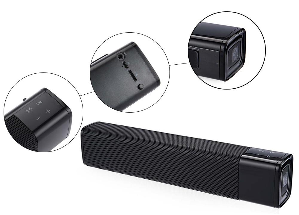 ถูก 2016แฟชั่นใหม่HiFi NFCบลูทูธลำโพง20วัตต์ABSซูเปอร์เบสสเตอริโอไร้สายบลูทูธ4.1ลำโพงสำหรับมาร์ทโฟน