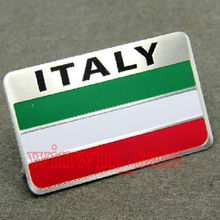 80 X 50mm Trunk Rear Aluminum Italian Italy Flag Badge Emblem Decal 3M Sticker Fit Range Rover Fiat Hyundai Mazda ect - Top-auto Accessary store