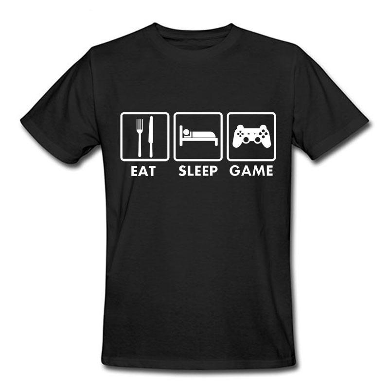 Cheap fashion eat sleep game xbox gamer funny t shirt men for Cheap college t shirts online