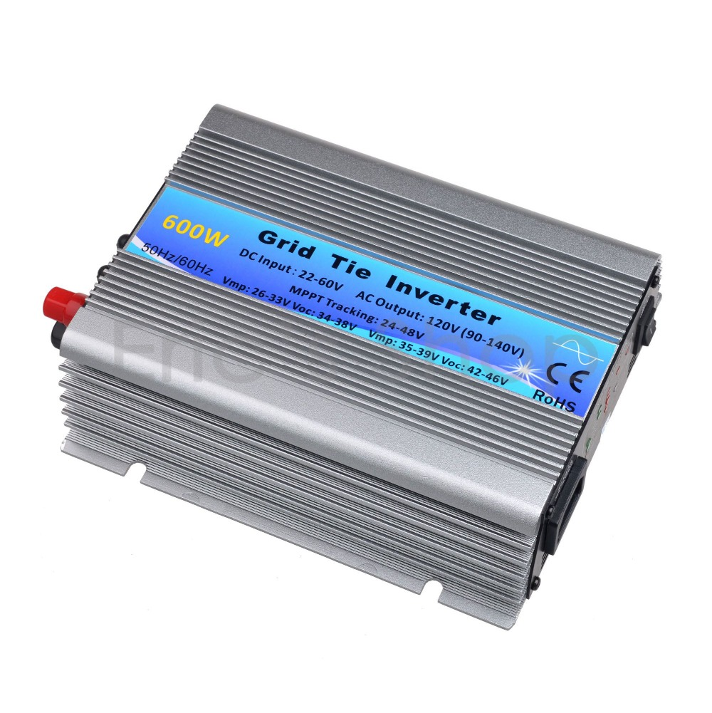 500W Solar Inverter Grid Tie Inverter DC22V-60V to AC120V(90-140VAC) Pure Sine Wave Inverter 50Hz/60Hz(Auto control) CE(China (Mainland))