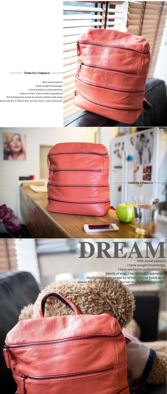 2015 New Trend Korea Style Large Zip Around Cowhide Genuine Leather
