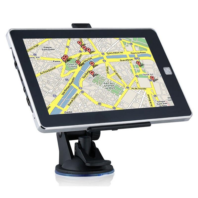 7 Inch Car GPS Navigation Touch Screen 800Mhz CPU FM Transmitter 4GB Sat Nav Bundle New Maps Auto GPS Naivigators For Tourist(China (Mainland))