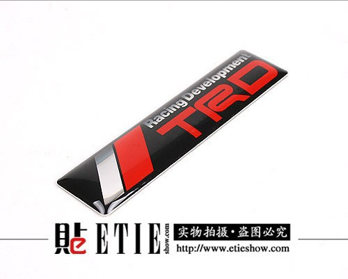 ETIE Car-styling Toyota Trd Logo Car Stickers and Decals 3M Vehicle Vinyl Wrap Adhesive Epoxy Sticker with Glue Auto Accessories(China (Mainland))