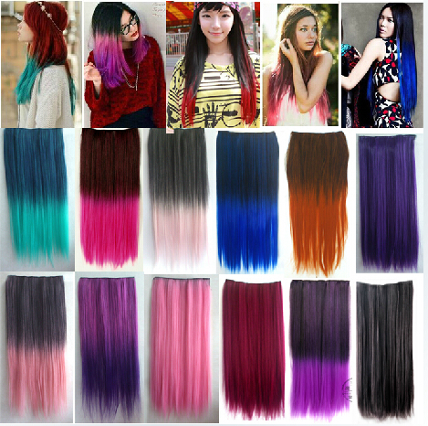 colorful ombre hair extensions 24colors colorful hair