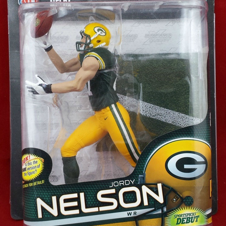Animation Garage Kid Collection Kids Toys: Action Figure PVC Dolls Rugby NFL Green Bay Packers Jordy Nelson Model Best Gifts(China (Mainland))