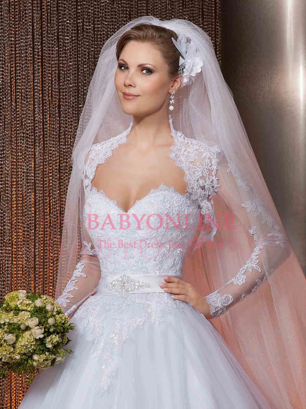 2014 New Style Sweetheart Ball Gown Wedding Dress White Lace Princess ...