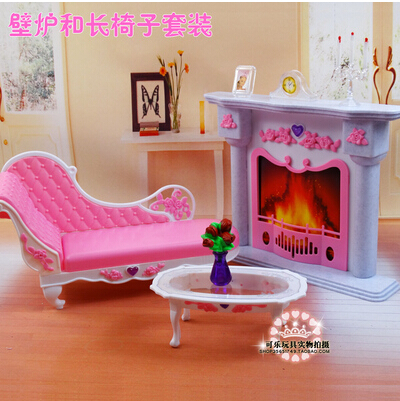 Free Shipping,New arrival Christmas/Birthday Gift Children Play Set Doll Furniture Living room furniture Accessories For Barbie(China (Mainland))