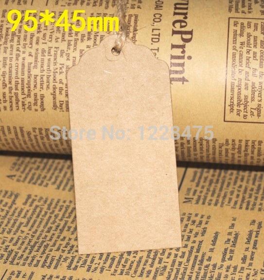 95*45mm/Creative Vintage DIY Multifunction Blank Craft paper Gift Tag/Bookmark/Wedding Tags/price Tag(China (Mainland))