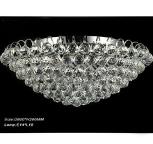 New Modern Fashion Clear K9 Crystal Glass Ceiling Light Living Room Lamp D800mm X H280mm (China (Mainland))